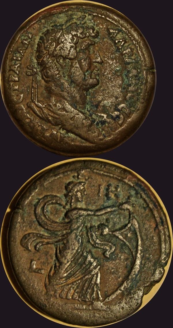 Drachme coloniale d'Hadrien pour Alexandrie en Egypte Marco_10