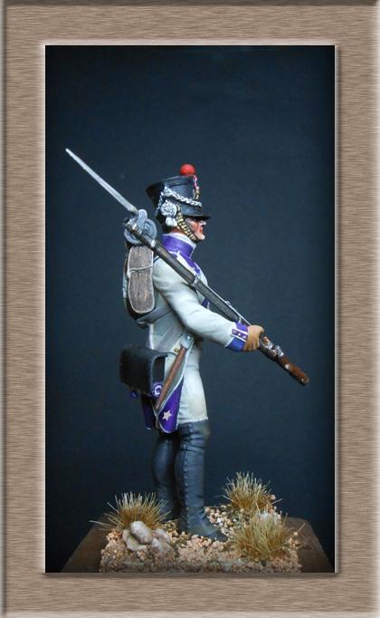Fusilier du 33e de ligne en habit blanc 1807 MM 54mm 74_28112