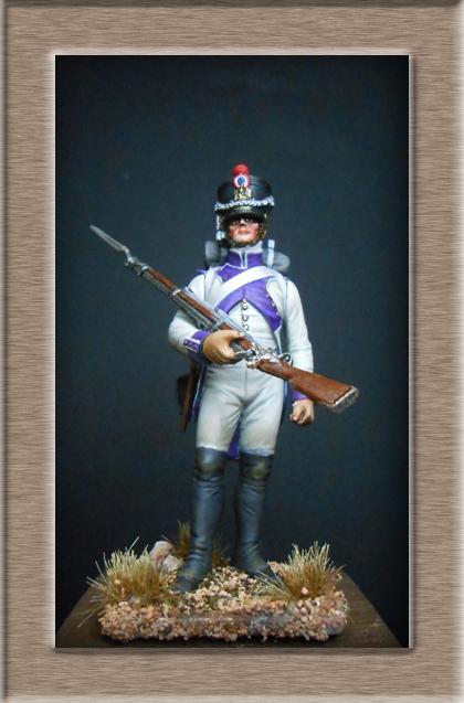 Fusilier du 33e de ligne en habit blanc 1807 MM 54mm 74_28113