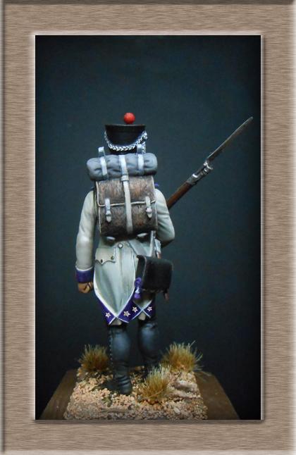 Fusilier du 33e de ligne en habit blanc 1807 MM 54mm 74_28212