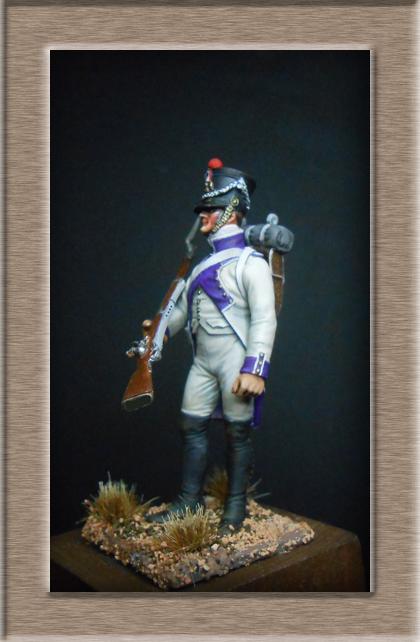 Fusilier du 33e de ligne en habit blanc 1807 MM 54mm 74_28213