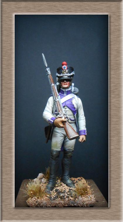Fusilier du 33e de ligne en habit blanc 1807 MM 54mm 74_28416