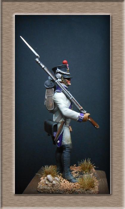 Fusilier du 33e de ligne en habit blanc 1807 MM 54mm 74_28417