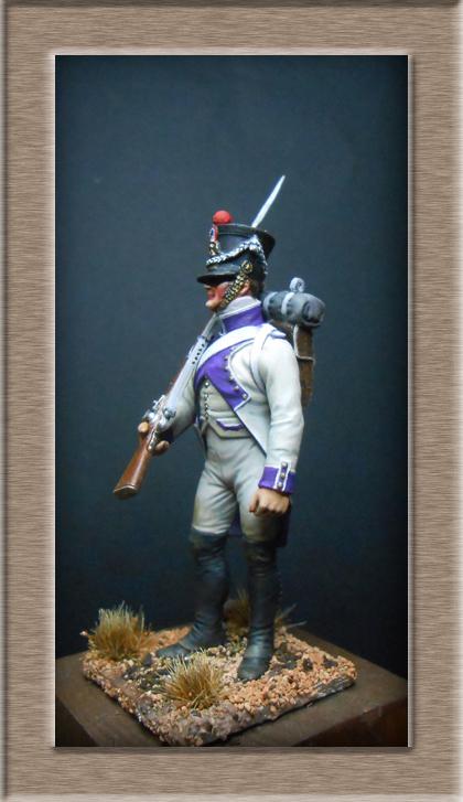 Fusilier du 33e de ligne en habit blanc 1807 MM 54mm 74_28516