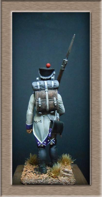 Fusilier du 33e de ligne en habit blanc 1807 MM 54mm 74_28517