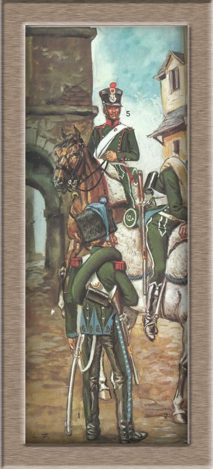 Chasseur à Cheval 16e régiment Compagnie d'élite 1812 Furc3i14