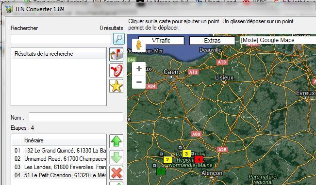 ITN Converter et GPS Globe MAP  Captur11