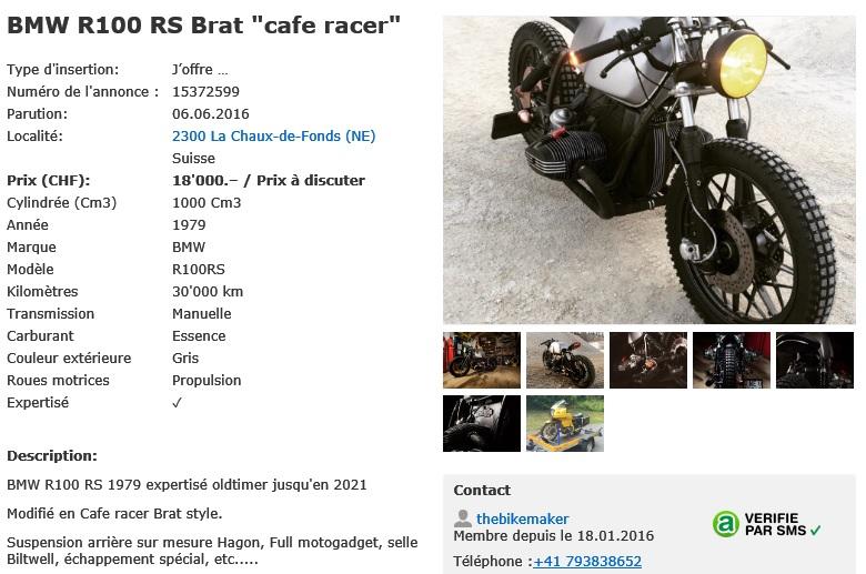 R100RS Café Racer Brat Style Swissb10