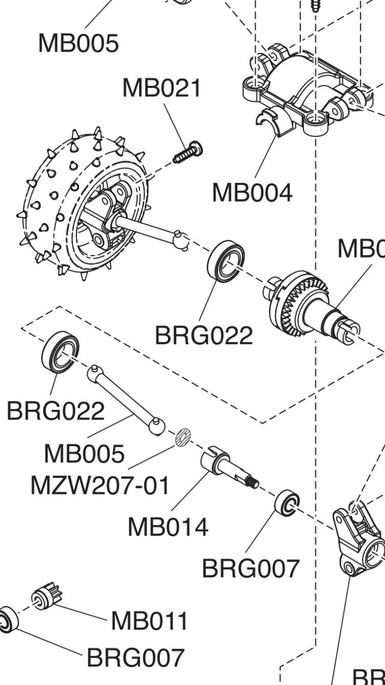 [Transmission Buggy] pourquoi un seul O-ring dans les cardans? Image10