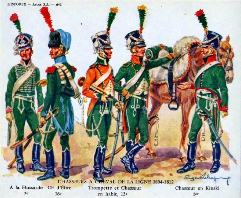 Chasseur à Cheval 16e régiment Compagnie d'élite 1812 Crbst_11