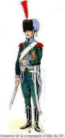 Chasseur à Cheval 16e régiment Compagnie d'élite 1812 Les_un11