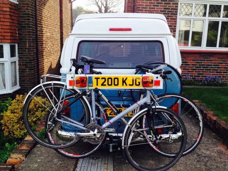 rack - Towbar bike rack with spare wheel clearance Img_1010