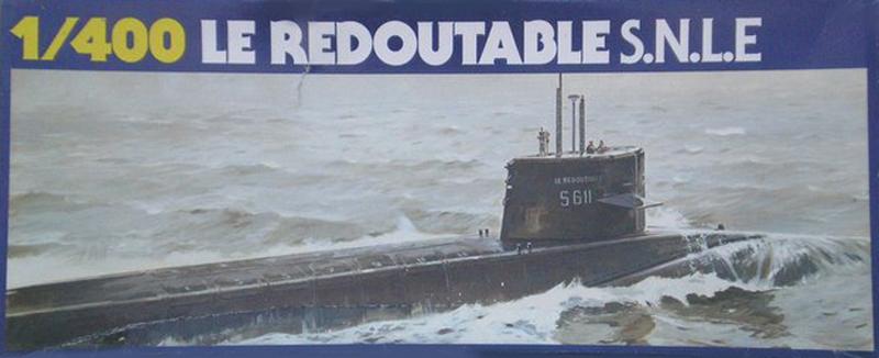 Sous-marin nucléaire lanceur d engins SNLE REDOUTABLE 1/400ème Réf 81075 Redout10