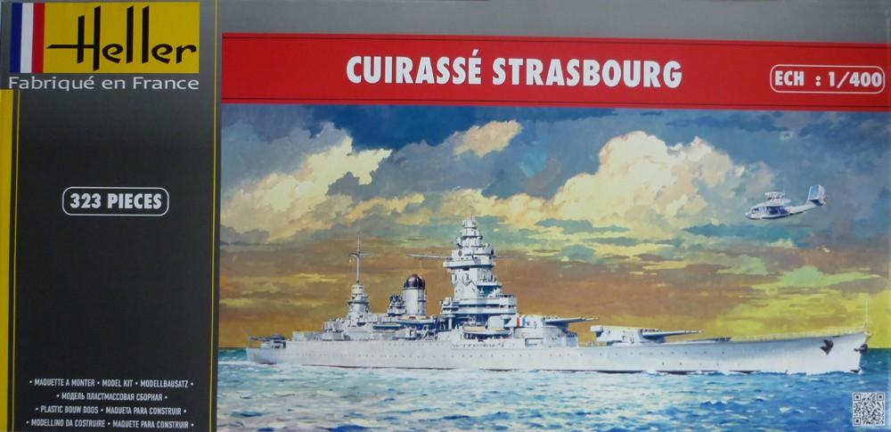Cuirassé STRASBOURG 1/400ème Réf L 030 Stasbo10