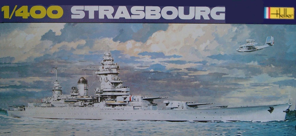 Cuirassé STRASBOURG 1/400ème Réf L 030 Stasbo11