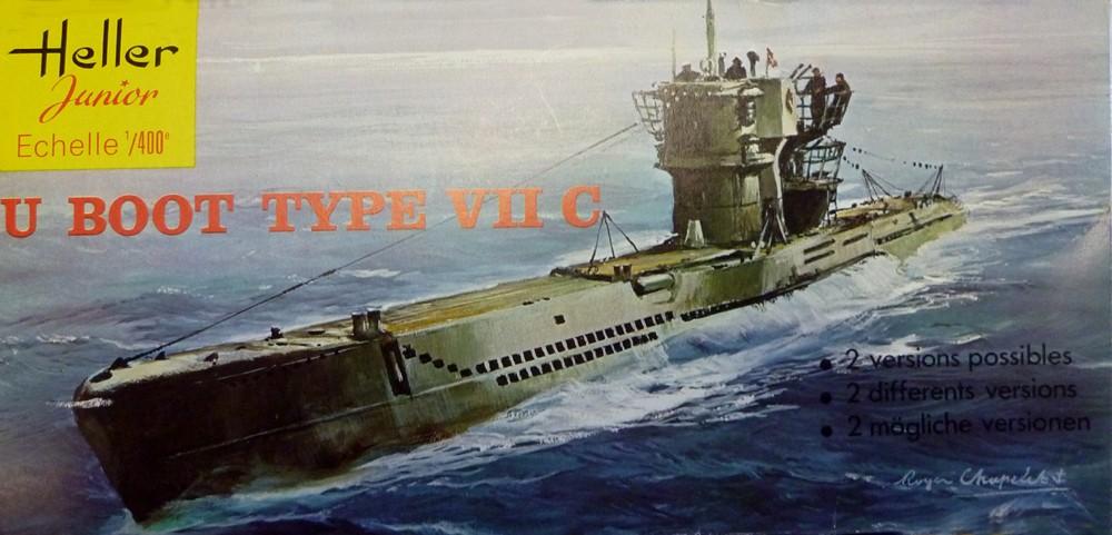 Sous-marin U-BOOT Type VII C 1/400ème réf JUNIOR X, 1072 & 81002 U-boot10
