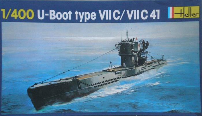 Sous-marin U-BOOT Type VII C 1/400ème réf JUNIOR X, 1072 & 81002 U-boot11