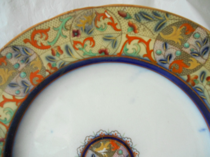 Enamel like & Cobalt antique plates, Any ideas on maker and date please? Dscn0111