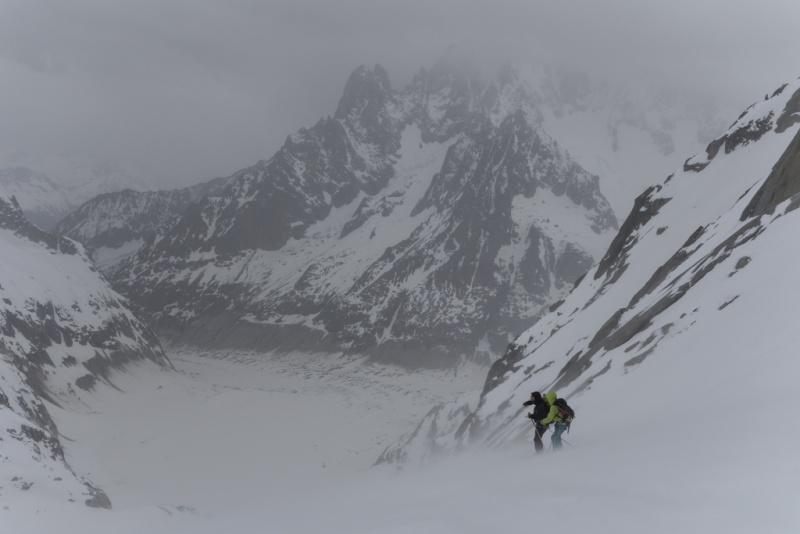 Plan de repli : Vallée Blanche - 2 avril 2016 20160410