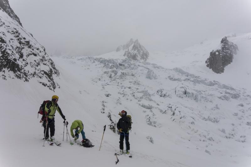 Plan de repli : Vallée Blanche - 2 avril 2016 20160412