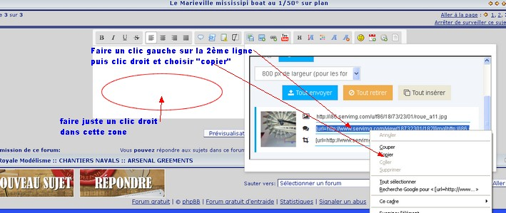 insertion directe d'une photo à partir du message (utilise serving) Insere15