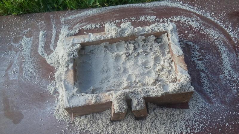 Hache en bronze par moulage au sable 20160515