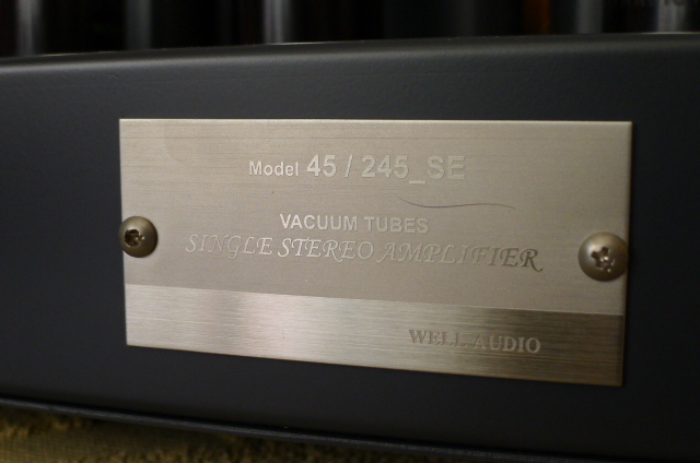 Well Audio 45/245SE Single Ended Tube Power Amplifier and Grepin 12