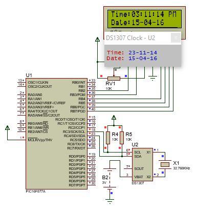 الناقل 2IC وساعة التوقيت الحقيقى DS1307 ومشاريع الساعات الرقمية : 1112