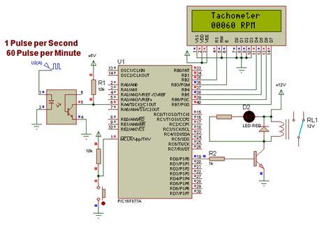 """المشاريع المتوسطة : 1- مشروع عداد السرعة """"التاكوميتر"""" Tachometer باستخدام الميكروكونترولر PIC  113"""