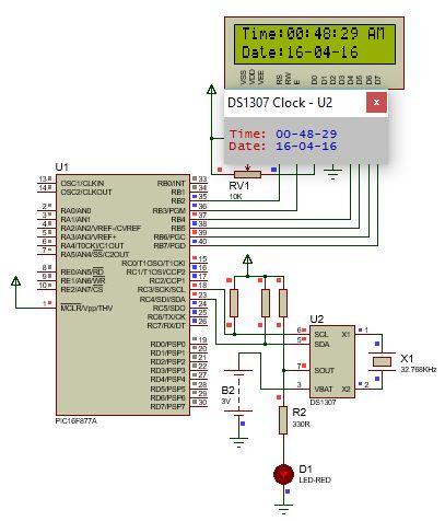 الناقل 2IC وساعة التوقيت الحقيقى DS1307 ومشاريع الساعات الرقمية : 1211