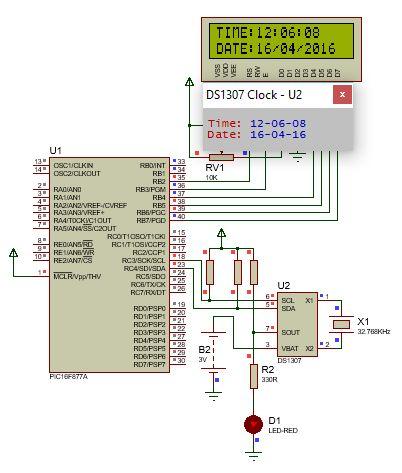 الناقل 2IC وساعة التوقيت الحقيقى DS1307 ومشاريع الساعات الرقمية : 1310
