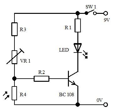 3- دائرة بسيطة لكشف الإظلام باستخدام ترانزستور  318
