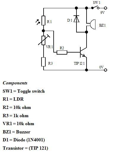 5- حساس للضوء باستخدام ترانزستور و6- -حساس ضوء بالستخدام ترانزستور دارلنجتون  614