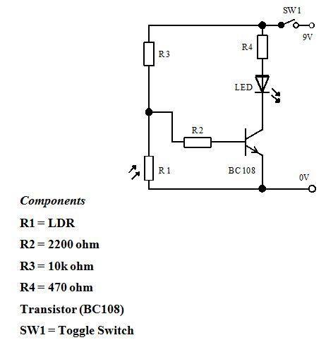 5- حساس للضوء باستخدام ترانزستور و6- -حساس ضوء بالستخدام ترانزستور دارلنجتون  813