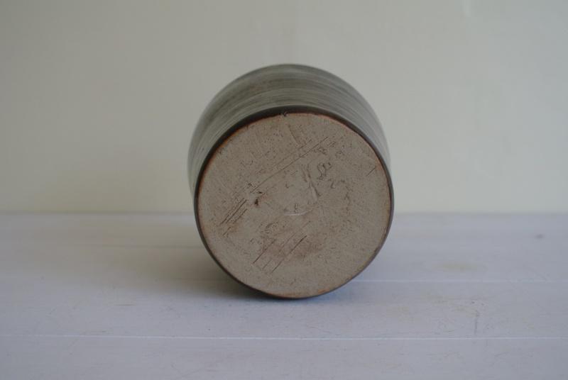 Simple Brown Jug Marked KP Jug_210