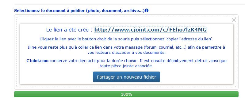 Transfert et téléchargement de fichiers Lien_c10