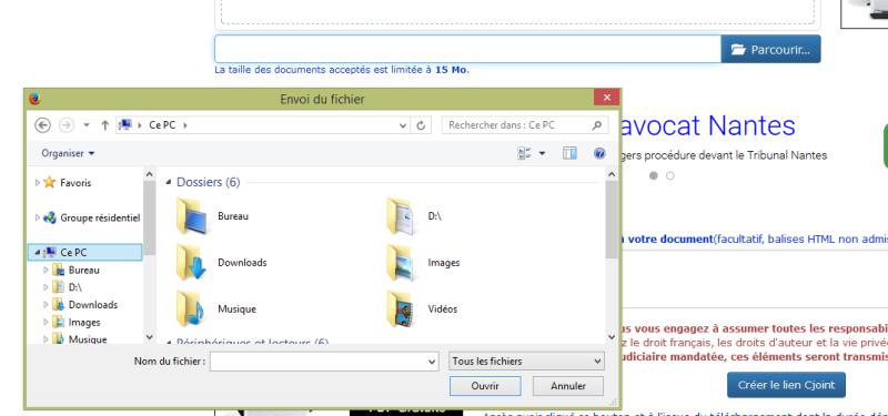 Transfert et téléchargement de fichiers Poste10