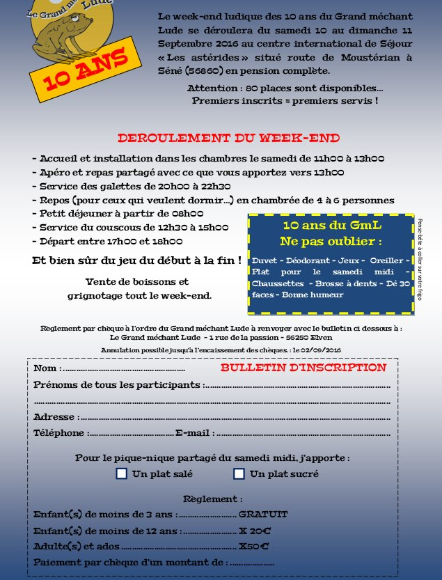 Invitation à Theix Lude210