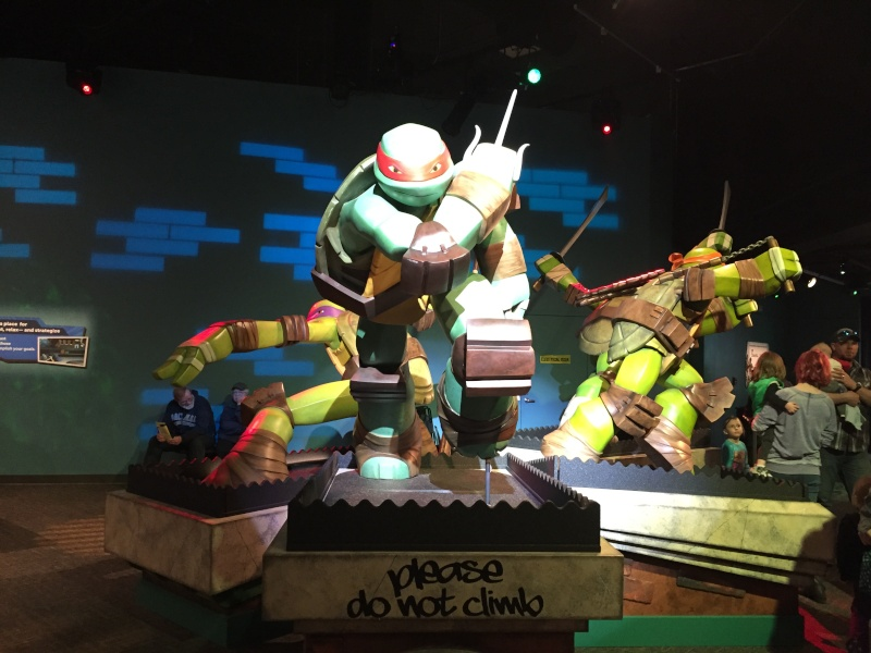 Tour of the TMNT Exhibit at the Children's Museum in Indianapolis Img_5415
