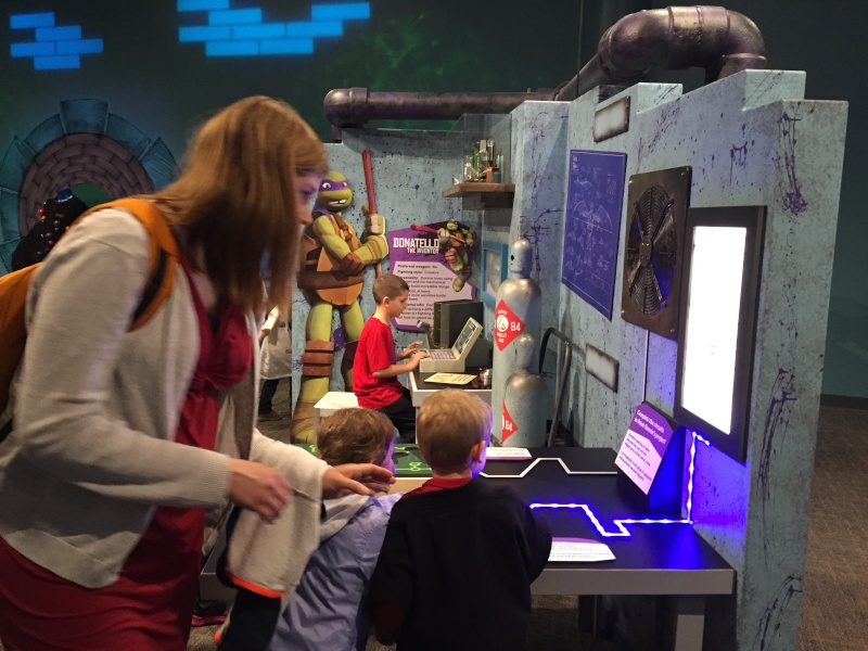 Tour of the TMNT Exhibit at the Children's Museum in Indianapolis Img_5492