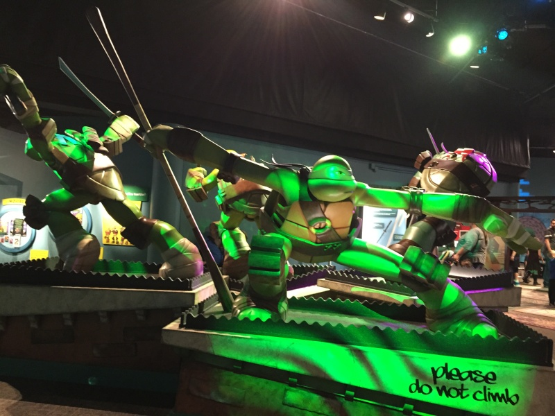 Tour of the TMNT Exhibit at the Children's Museum in Indianapolis Img_5516
