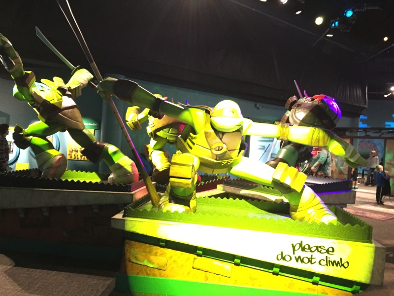 Tour of the TMNT Exhibit at the Children's Museum in Indianapolis Img_5517