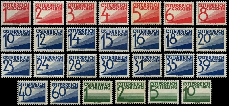 Die Portomarken der ERSTEN REPUBLIK Ank13210