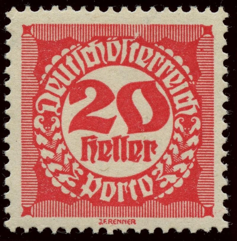 """Die Portomarken der Republik """"Deutsch-Österreich"""" Ank_7810"""