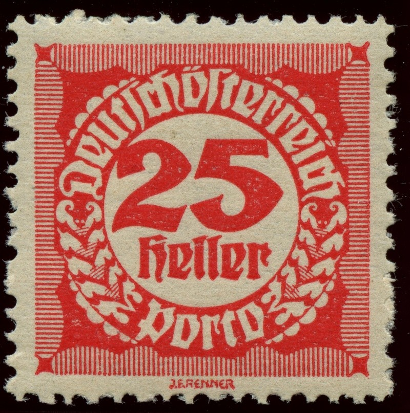 """Die Portomarken der Republik """"Deutsch-Österreich"""" Ank_7910"""