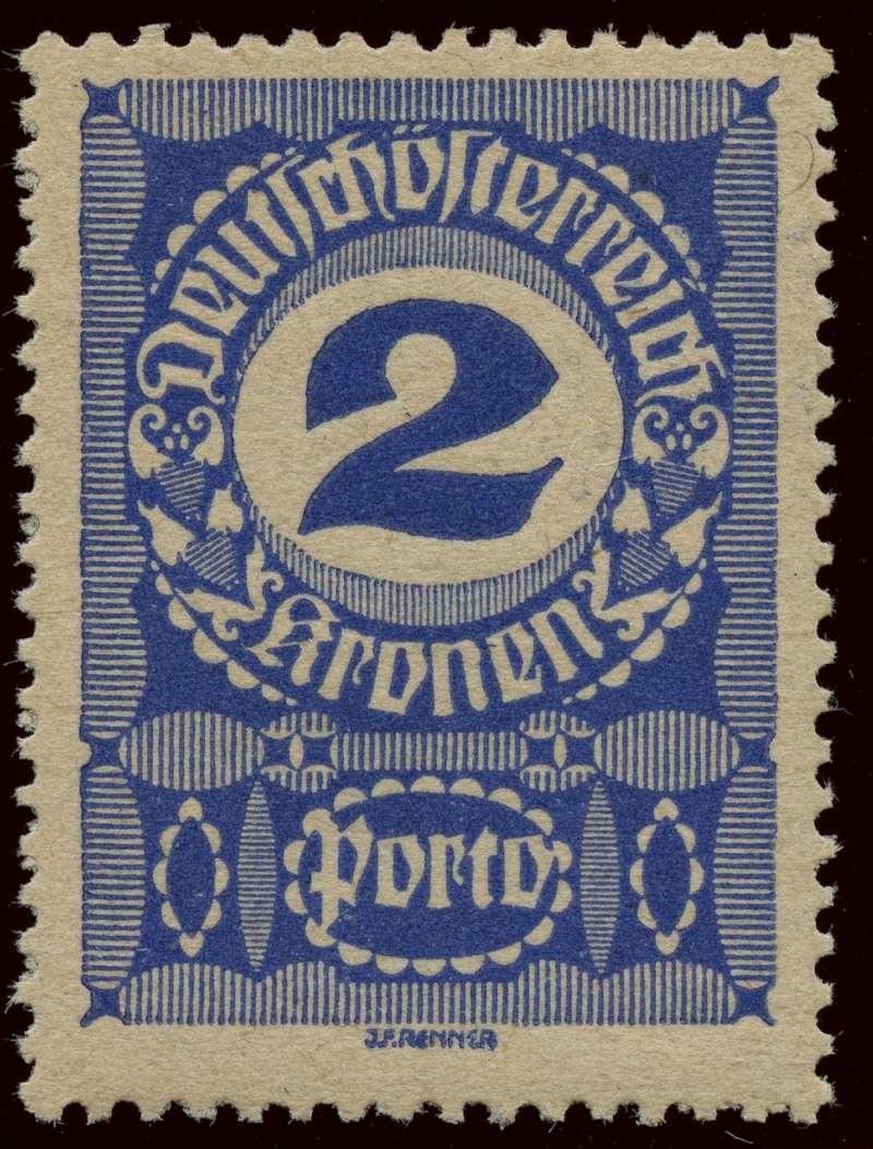 """Die Portomarken der Republik """"Deutsch-Österreich"""" Ank_8611"""