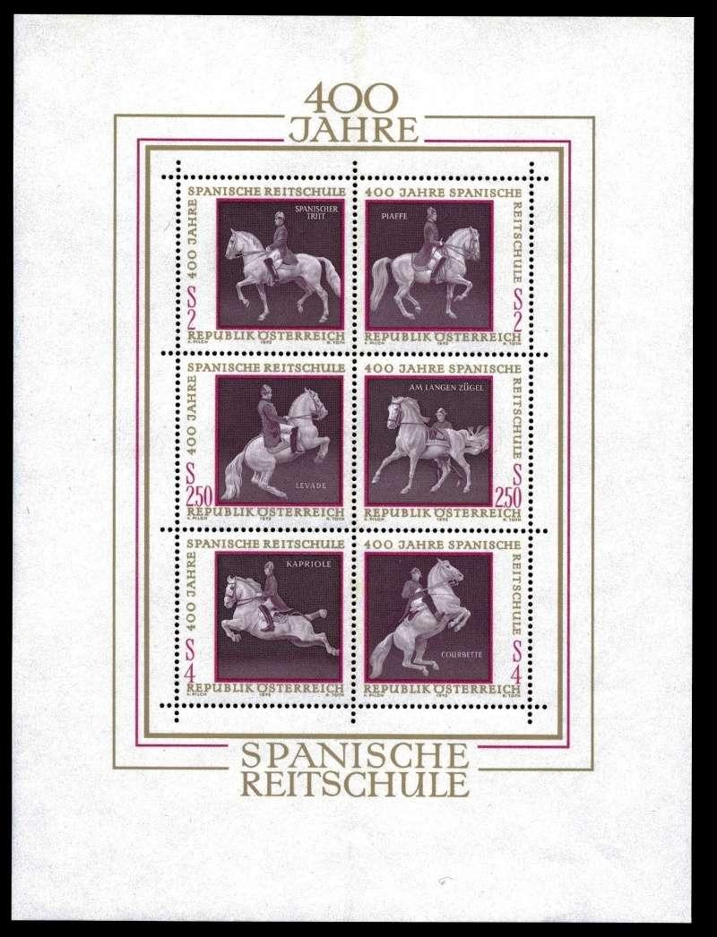 Österreich, Briefmarken der Jahre 1970 - 1974 Block_10