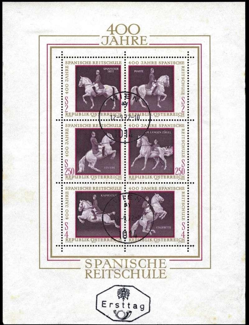 Österreich, Briefmarken der Jahre 1970 - 1974 Block_11