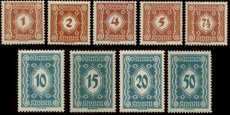 Die Portomarken der ERSTEN REPUBLIK Gesamt13