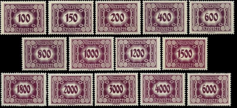 Die Portomarken der ERSTEN REPUBLIK Gesamt15
